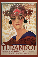 Poster for the Puccini Opera Turandot